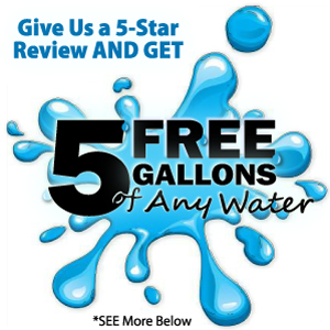 Giving Away 5 Gallons of FREE Water for a five star Review - Ventura's Water Store