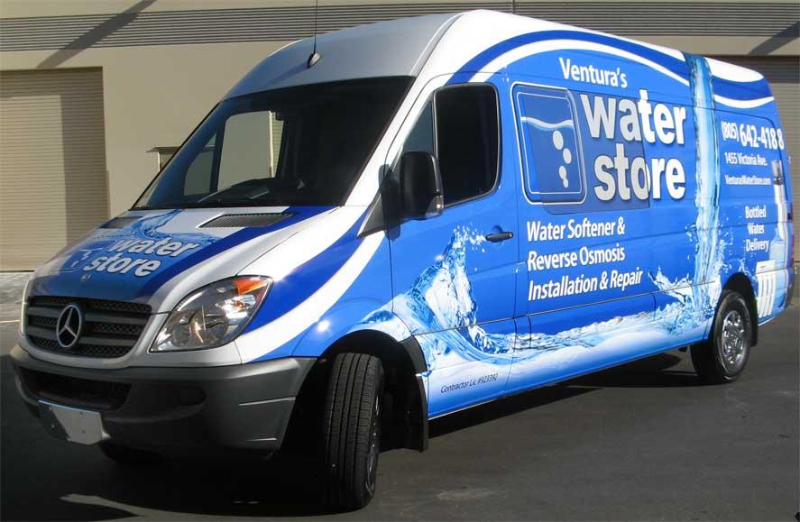 Ventura's Water Store Delivery Van